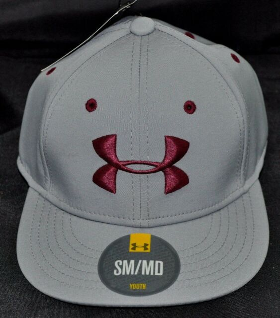 c1945dc108e NEW Under Armour S Med Youth Snapback Atheltic Hat Stretch Ball Cap UA NWT