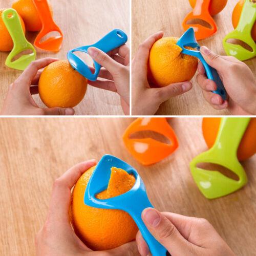 Citrus Orange Opener Peeler Slicer Cutter Plastic Lemon Fruit Skin Remover UP