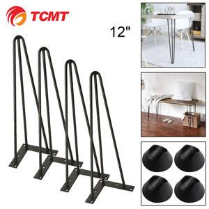 12-039-039-TC-Industry-Table-Legs-Metal-Steel-Chair-Bench-Legs-DIY-furniture-Set-of-4