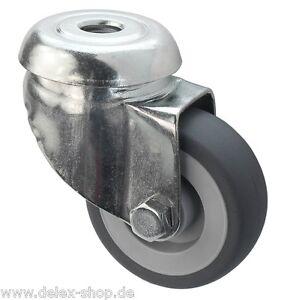50 mm transportr ollen lenkrollen m belrolle n tk 50 kg gummi spurlos r ckenloch ebay. Black Bedroom Furniture Sets. Home Design Ideas
