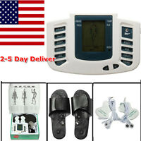 8 Levels Tens Pulse Acupuncture Therapy Stimulator Muscle Relax Massage Foot Usa