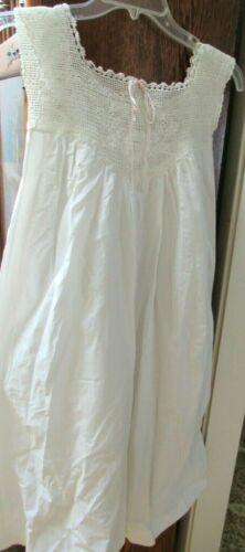 Antique Victorian Child's ? White Cotton Nightgown