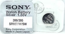 Sony 395/399 (SR927W/SW) 1.55v Silver Oxide Mercury Free Watch Battery - Japan