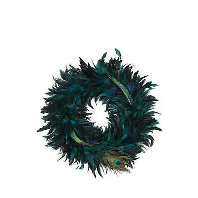 NEW Vue Holiday Opulence 50cm Peacock Feather Wreath