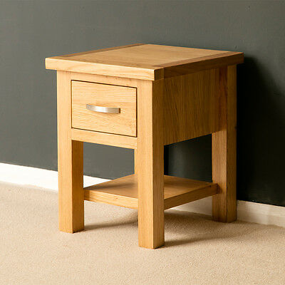 Light Oak End Tables With Storage - Renovo Solid Oak Side Table With Storage