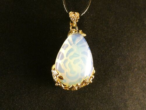 Anhänger 24 Karat Vergoldet Edelstein Quarz Crystal Heilung Chakra Halskette