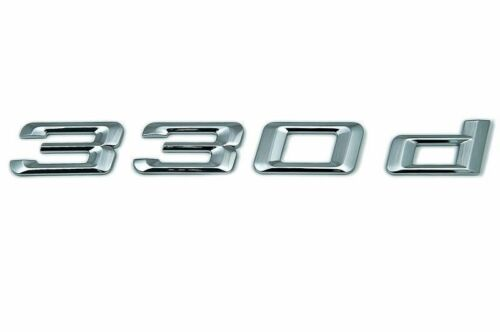 Original BMW 330d Logo hayon emblème caractère 330 d NEUF 51147289833