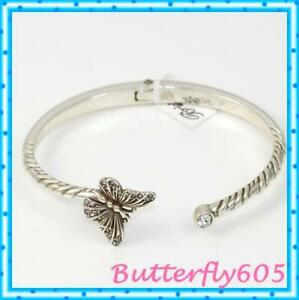 Brighton-Solstice-Butterfly-Hinged-Bangle-Bracelet-NWT-58