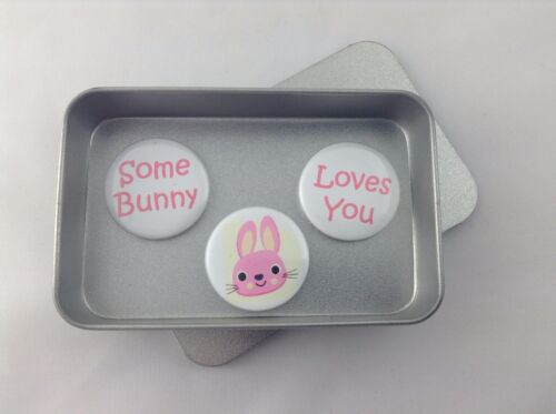 Perfect Gift for any occasion Some Bunny Loves You Magnet Gift Set With Tin