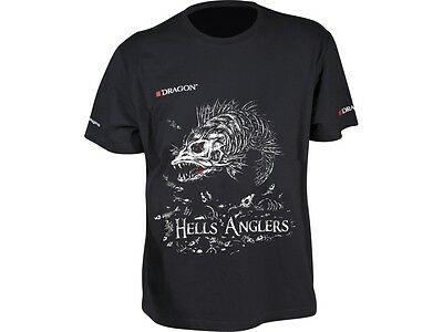 Black size Dragon T-shirt Hells Anglers Zander M-XXXL High class cotton