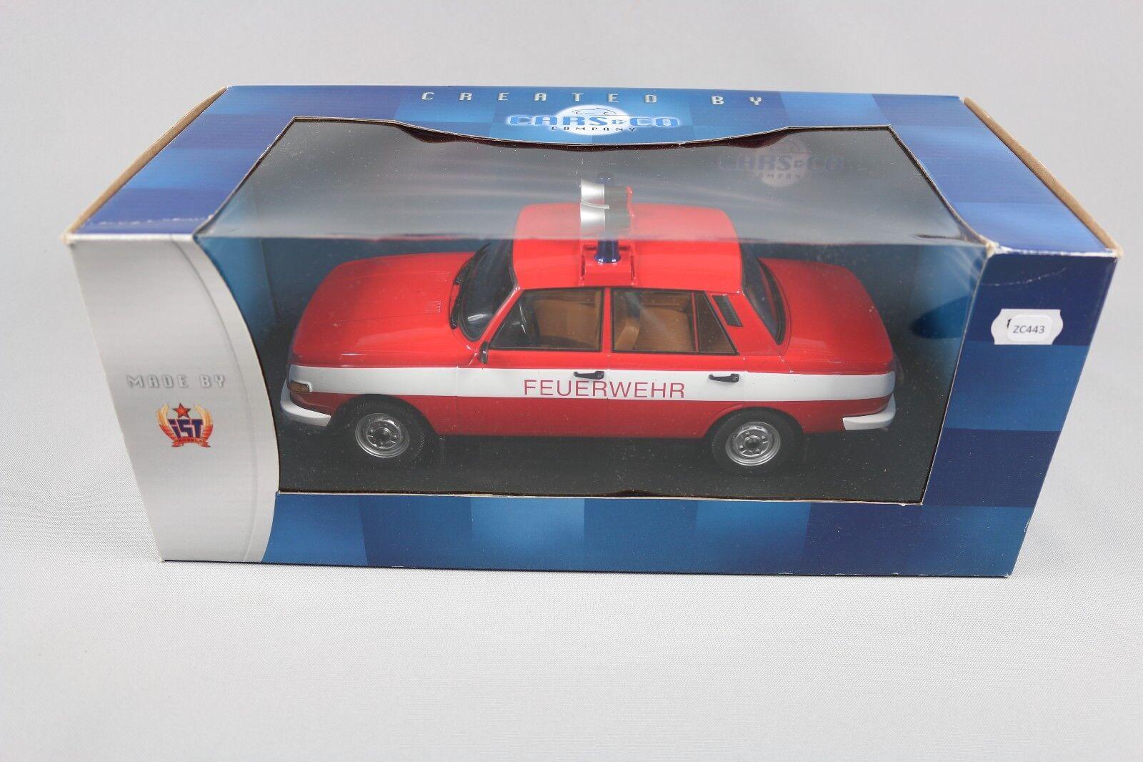 ZC443 IST Models CCC087 Voiture Miniature 1 1 1 18 Wartburg 353 W 1985 Feuerwehr LTD e87c8f