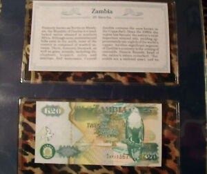 Zambia P-36 20 Kwacha Year 1992 Uncirculated Banknote