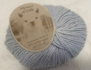 1-Skein-up-To-4-Available-Blue-Sky-Alpaca-Silk-Yarn-034-Ice-034