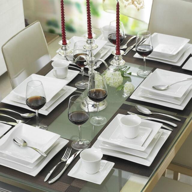 MALACASA CARINA 30x Porcelain Ceramic Dinner Set Home Kitchen Dinnerware  Plates