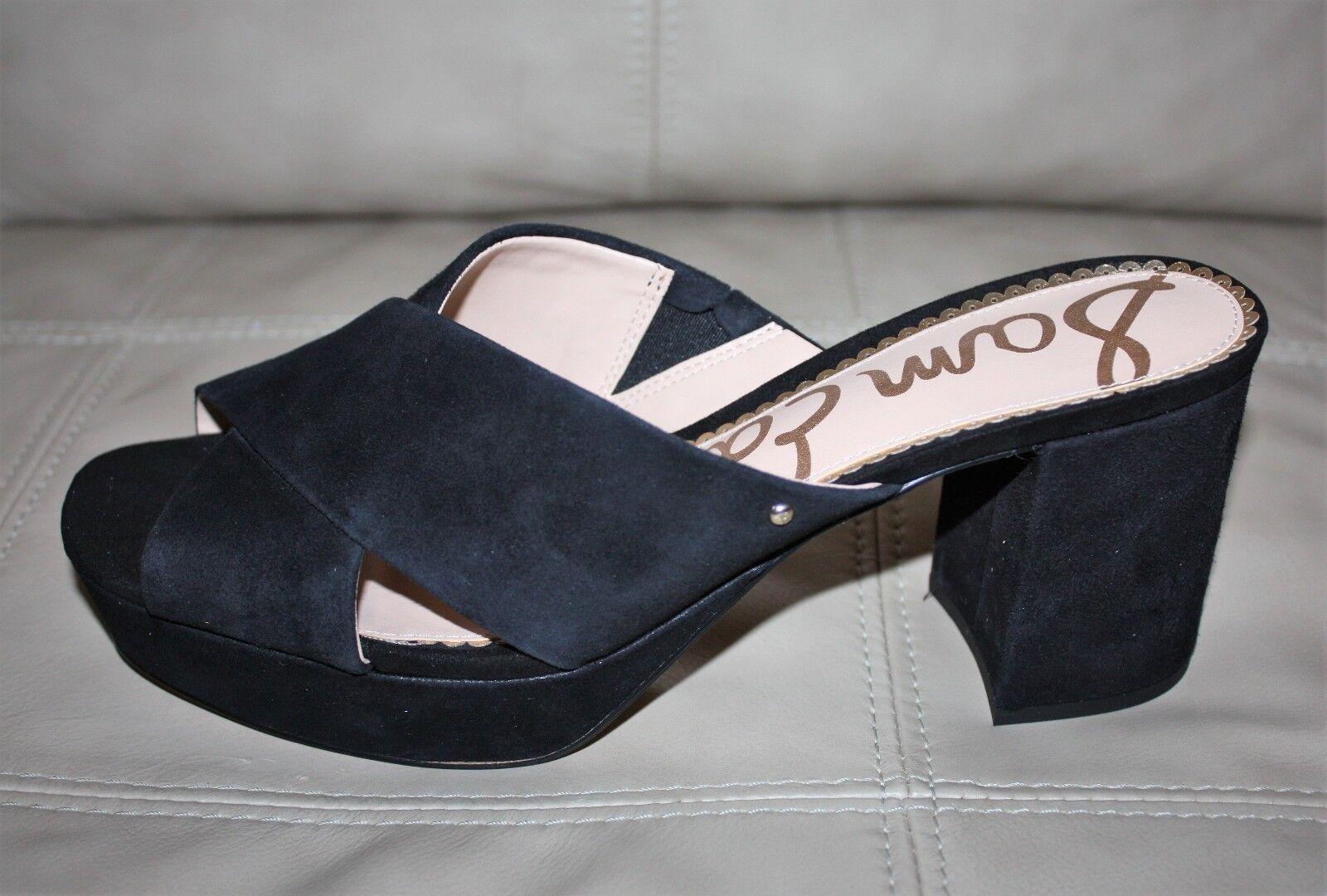 bcede1ba8fa6 Sam Edelman Jayne Crisscross Platform Slide Heeled Sandals Black ...