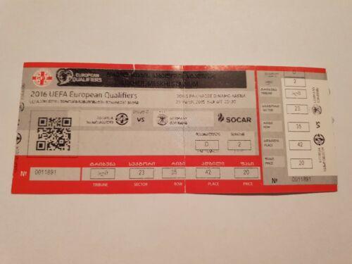 Used Sammler Ticket Georgien Georgia vs DFB Deutschland Germany UEFA EURO 2016 Q