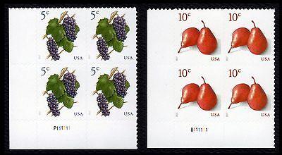 #5177 & 5178 5c Trauben & 10c Red Pears, Platte Block, Postfrisch Any 4 = Um Jeden Preis