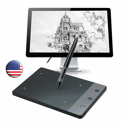 """Huion H420 4 x 2.23"""" Art Graphics Drawing Tablet Wireless Pen for Windows/Mac/OS"""