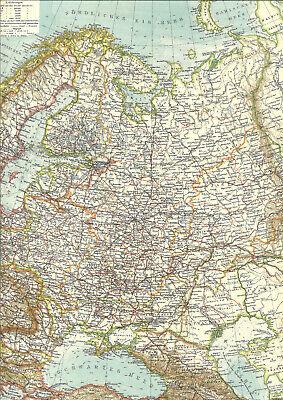 ????????????????????????123 Jahre Alte Landkarte Kaiserreich Russland Weißrussland Ural 1896 Moderne Techniken