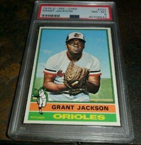 1976 OPC O-pee-Chee #233 GRANT JACKSON Baltimore ORIOLES NM MINT PSA 8