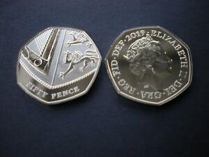 Royal-Mint-2019-Royal-Shield-BU-50p-Coin-Brilliant-Uncirculated