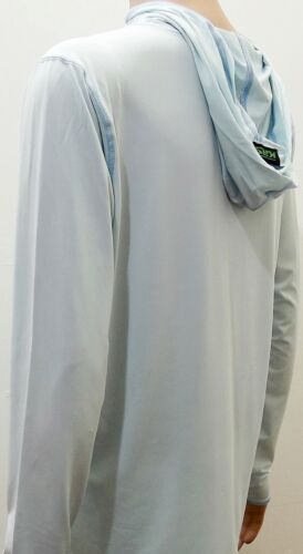 Kast Extreme Fishing Gear Ronin Hooded Sun Shirt Ice Blue Size 2XL NWT