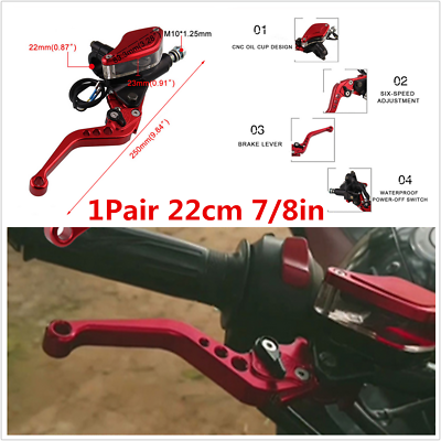 OXMART 7//8inch Right Upper Brake Levers Handlebar Hydraulic Brake Master Cylinder with Rearview Mirror Hole Fit for Honda Foreman//Foreman Rubicon 400//450//500