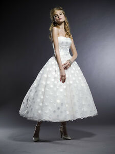 Image Is Loading Polka Dot Strapless Ballgown Wedding Dress Michelle Roth