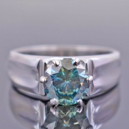 Details about  /1.70Ct Certified Natural Earth Mined Round Brilliant Cut Blue Diamond Ring