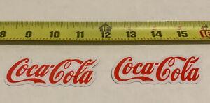 2 Pack Coca-Cola decal sticker coke Red/white