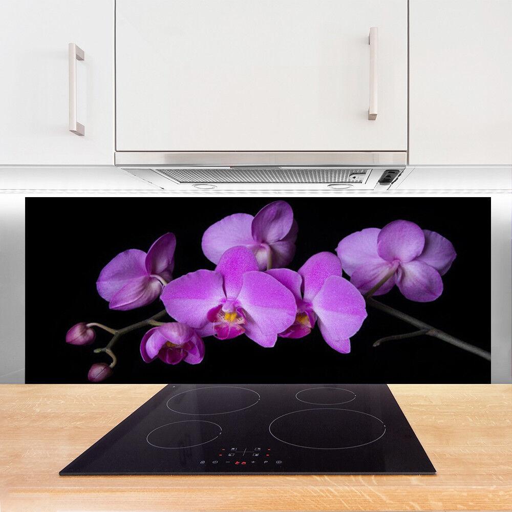 Crédence de cuisine en verre verre verre Panneau 125x50 Floral Fleurs 525920
