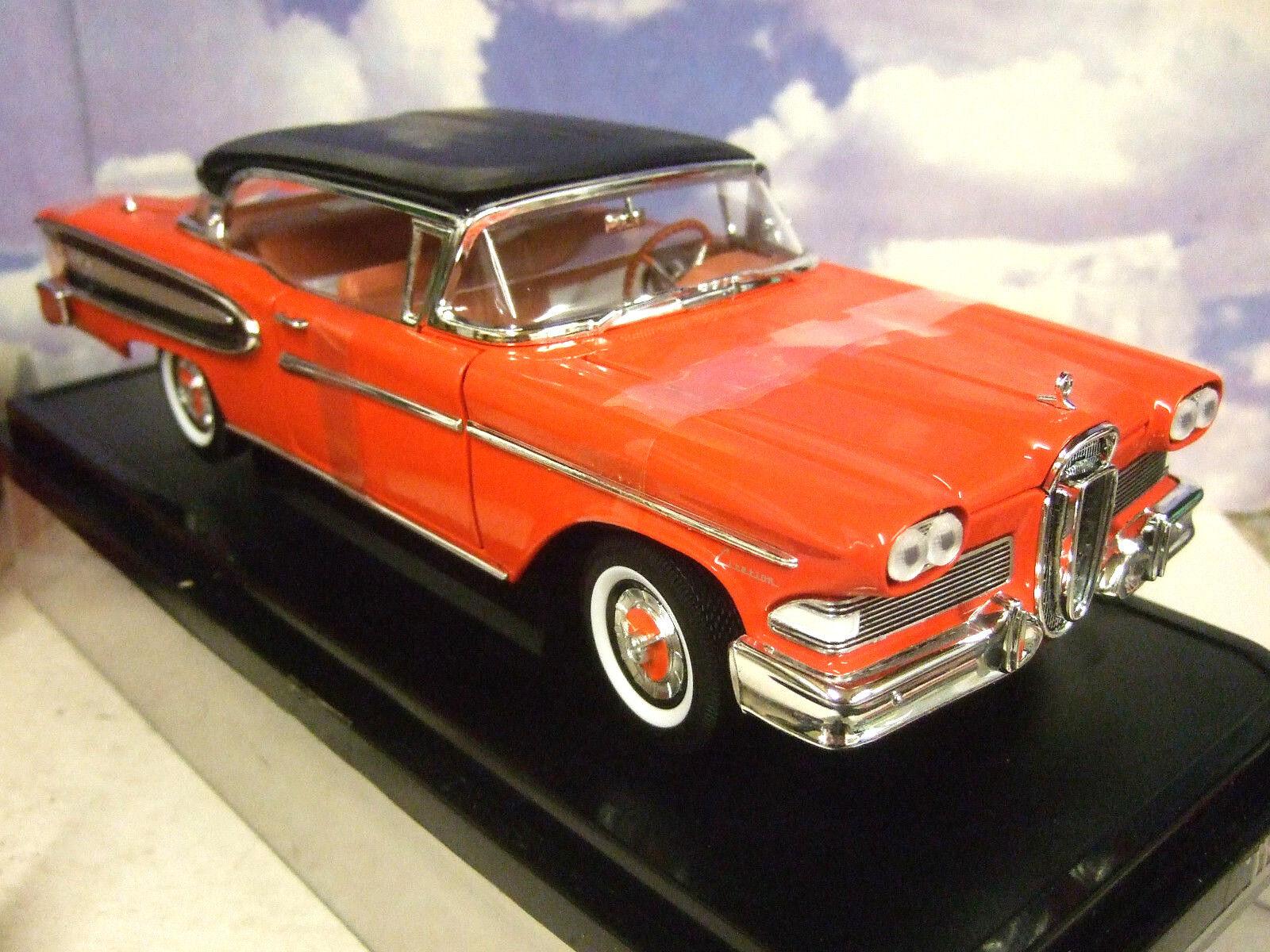 Whitebox 1/18 1960 (58) Ford Edsel Citation rouge/noir ouverture portes/coffre/capot moteur   Qualité Fine    Forme élégante    Up-to-date Styling    Moderne