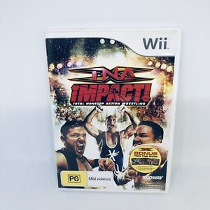 TNA IMPACT WRESTLING Nintendo Wii Complete PAL Game Very Good Condition