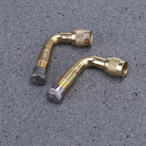 2pcs Brass Air Tyre Valve Schrader Valve Stem 90 Degree Bent for Car Motorcycle