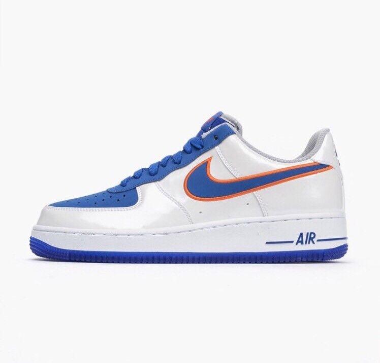 Nike air force 1 basso okc reale, thunder 9 bianco blu reale, okc new york knicks conosciuto bronco arancione 898cf6