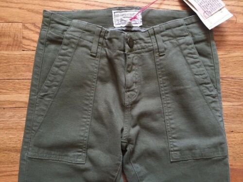Current Elliott Army The Combat Skinny Ankle Pants Green Womens Size 24W-30W