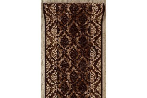 Épais Runner Tapis Romance Marron Moderne Anti-Dérapant Escalier largeur 67-100 cm Extra Long