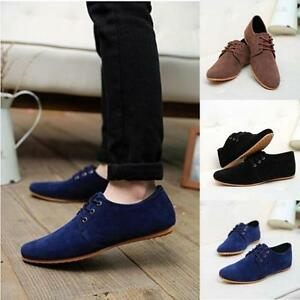men's casual lace up moccasin driving shoes formal suede