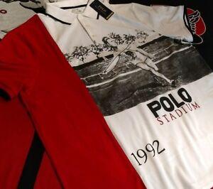 ea413f1ea2a Polo Ralph Lauren Javelin Stadium 92 Polo Shirt P Wing 92 93 XL ...