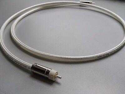 High End Oyaide FTVS-510 5N Silver Coaxial Cable 75Ω Digital HIFI TV Japan Made