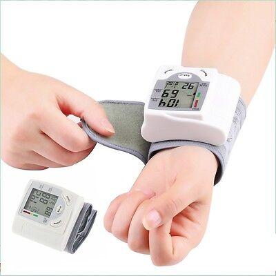 Digital LCD Wrist Blood Pressure Monitor Heart Beat Rate Pulse Meter Measure OE#