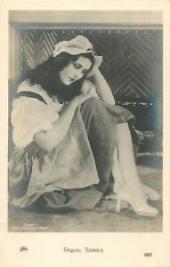 Mexican-Actress-silent-movie-starlet-RAQUEL-TORRES-pin-up-leggy-MGM-postcard