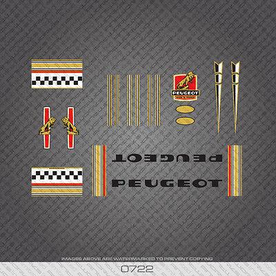 0378 Peugeot Premiere Vélo Frame Décalcomanies Blue