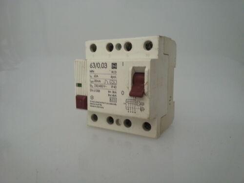 F e G errore elettricità protezione narcisista 63//0 03
