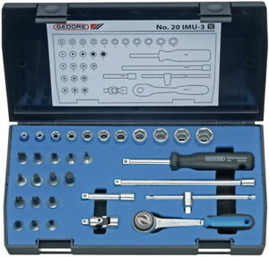 Steckschluesselsatz-CV-32tlg-4-14mm-1-4Zoll-GEDORE-f-4KT-Antrieb