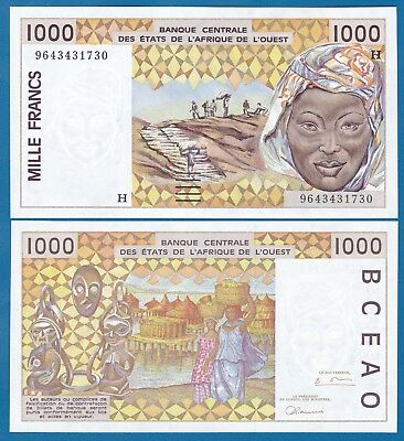 2003 P 615 H UNC WEST AFRICAN STATE NIGER 1000 1,000 FRANCS 2012