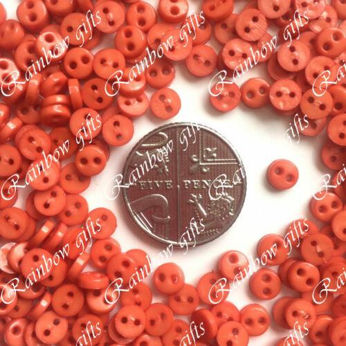 4mm Mini Micro Botones Botones Pequeños Muñeca Ropa Botones Scrapbooking Craft