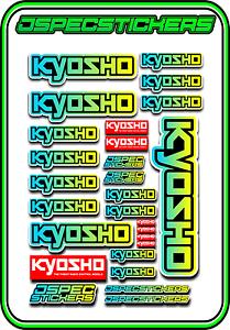 KYOSHO RC RACING CUSTOM STICKER SHEET A5 MINI Z BUGGY CAR ELEC DRONE BLUE//YELL B