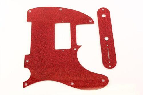 Red Glitter Humbucking pickguard + control plate set Fits Fender Tele Telecaster