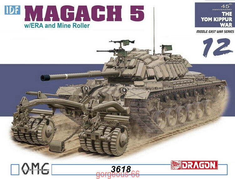 DRAGON 1 35 3618 IDF Magach 5 w ERA and Mine Roller